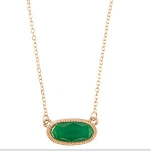 🛑Last 1! 🎉3/$15 Green pendant statement necklace